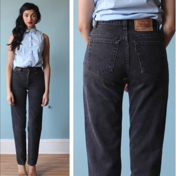 Levi S Jeans Levis 550 Vintage High Waisted Black Mom Poshmark